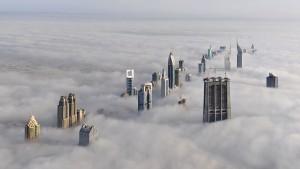 Skyline im Nebel
